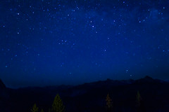 Night falls over Yosemite (Andre Santa Rosa) Tags: california road park trip trees summer usa mountain nature night point landscape star nikon peace nightshot natureza paz estrelas paisagem cu glacier national adobe noturna silence astrophotography yosemite starry ucsd lightroom csf 2016 d3100 astrofotorgrafia