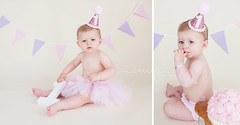 Mila's Cake Smash! (Samantha Nicol Art Photography) Tags: birthday light baby art girl cake studio scotland smash toddler photographer natural north first samantha props tutu strathclyde bunting ayrshire nicol renfrewshire beith