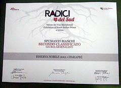 d'Arapr e Radici del Sud 2016 (Sparkling Wines of Puglia) Tags: spumante pergamena metodoclassico radicidelsud riservanobile salonedeivinimeridionali