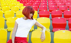 color addicted (Tati___Tata) Tags: light red woman color girl fashion sport contrast freckles redhair