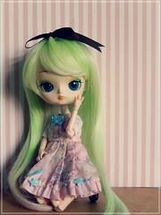 Desafio 7 dias - Dia 1: Ploy - Dal Cinnamoroll (Pliash) Tags: dal doll cinnamoroll original pullip groove 2008 cute kawaii lolita pink green hair girl