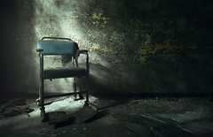 the chair (Nils Grudzielski) Tags: old hospital lost scary chair decay leer wheelchair ruin haunted spooky patient forgotten urbanexploration horror rotten asylum psychiatrie angst krankenhaus klinik abandonedplaces marode lostplaces arzt therapie