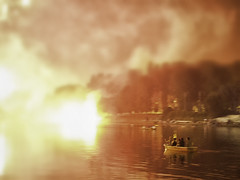 Fire float with me (Lumase) Tags: river boat fireworks float turin navigation
