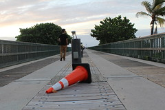 IMG_0027 (alannahberkeley) Tags: pompanopier pier orange trafficcone cone
