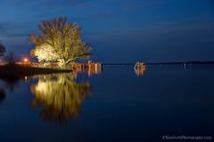 Lake Michigan ... spring calm II (Ken Scott) Tags: usa reflection spring twilight michigan lakemichigan greatlakes april hdr freshwater westbay grandtraversebay leelanau 2015 45thparallel kenscottphotography kenscottphotographycom