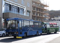 Tantivy 14 (Coco the Jerzee Busman) Tags: uk blue bus islands coach camo renault cannon jersey swift dennis tours dart channel leyland lcb plaxton tantivy