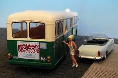 """Pub Gaine CHANTELLE sur """"cul de bus"""" (xavnco2) Tags: bus 1955 advertising model models collection chantelle publicit 56 ratp ligne 442 143 diecast girdle werbun parisien gaine hachette op5 somua modlesrduits hfthalter op53"""