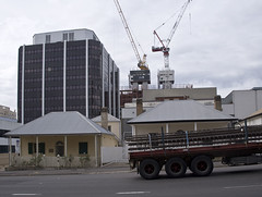 A Glass Box (phillipdumoulin) Tags: heritage history glass buildings concrete construction steel colonial sydney australia cranes highrise trucks suburb cbd roads development parramatta glassbox colonialbuildings parramattacbd