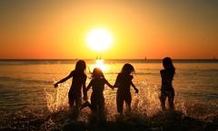 Friends (Lior. L) Tags: friends motion silhouettes goldensea