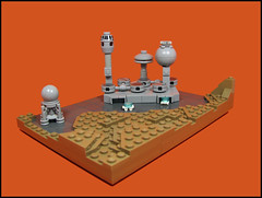 Greytown Spaceport (Karf Oohlu) Tags: lego vignette rocketship spaceport moc microscale microspacetopia