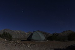 Tent at night (daveynin) Tags: camp sky night exposure tent clear wilderness campground