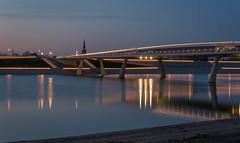 Lentloper evening (stevefge (away travelling)) Tags: netherlands night nijmegen landscape evening nederland bridges rivers waal nederlandvandaag reflectyourworld