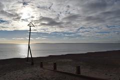 Hayling sunny November (Olivia Darby) Tags: beach rust shingle haylingisland erosion beachhuts groynes