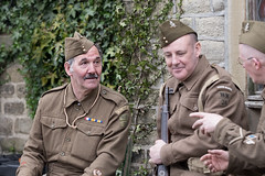 Home Guard (Mister Oy) Tags: england yorkshire 1940s ww2 soldiers talking chatting wartime davegreen haworth homeguard oyphotos fujixt1 oyphotos fuji90mmf2