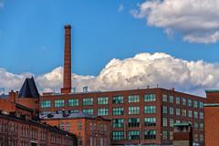 Bricks'n'Sky (BigWhitePelican) Tags: chimney sky glass clouds finland bricks may tampere 2016 canoneos7d adobelightroom6