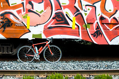 On Track (JSTAR377) Tags: bike train outdoors graffiti ride exercise tracks fit roadriding roadie exer