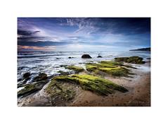 high tide (jordanchong) Tags: ocean longexposure sunset sea seascape beach tide hightide