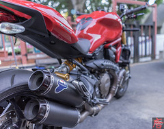 Ducati Monster 1200S exhaust (Sugar Imagery) Tags: monster ducati exhaust 1200s termis supernaked