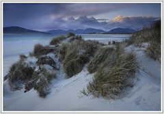 Approaching nightfall (adam_pierz) Tags: sunset sea sky clouds coast sand dunes grasses machair isleofharris seilebost nikond600