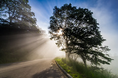 Greeting the Sun [Explored! 8k+ views, Thank You!] (y0chang) Tags: mountains landscape virginia pentax blueridgeparkway k5 yunghanchang