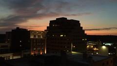 Ann Arbor Twilight Thunderstorm (FilmSprocket) Tags: twilight downtown michigan annarbor thunderstorm lightning summersolstice thunderhead bankofamericafinancialcenter june202016