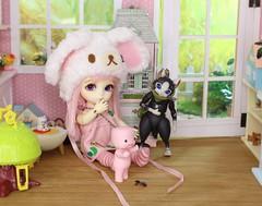 The Peculiar Pink Man's Secret #9 (Arthoniel) Tags: pink cat toy miniature doll ns bad collection marshmallow tiny kawaii figure limited rare toyshop premium myth diorama suji balljointeddoll latidoll monsterhunter faceup lati normalskin nereapozo littleangelsweeties