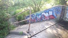 (prairiestateeffects) Tags: bridge edens 94 chicagoriver northbranch graffiti stairs