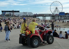 20160806 Blackpool Beach Patrol (blackpoolbeach) Tags: blackpool beach patrol emergency life guards central pier big wheel donkeys sand tide