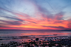 The sunset when we were nearly washed away (allybeag) Tags: sunset fields solway cumbria crosby whenwewerenearlywashedaway