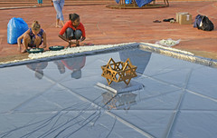 joy_at_work_5710 (Manohar_Auroville) Tags: sri aurobindo birthday auroville matrimandir urn amphitheatre decorations flowers beauty beauties girls manohar luigi fedele 15816
