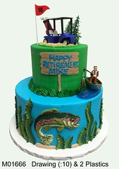 M01666 (merrittsbakery) Tags: cake tiered plastic fishing retirement