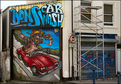 We Can Paint As Well! (Canis Major) Tags: bristol urban grosvenorroad carwash business mural artistic advertisement