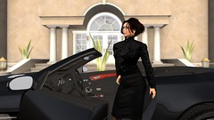 The Lady (alexandriabrangwin) Tags: world door woman house black home work computer mercedes benz glasses 3d graphics uniform lace columns twin skirt front blouse turbo secondlife virtual mansion elegant manor amg sl65 cgi classy v12 updo refined businesswoman alexandriabrangwin thealexandrianorder thealexandrianestate