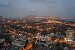 Mumbai Springs (Vidur Malhotra) Tags: city sea sky india tower skyline modern night skyscraper cityscape view floor harbour citylights highrise mumbai scape 34th megapolis southmumbai dadar southbombay 34thfloor wadala