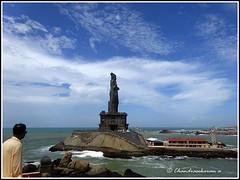 6155 - Thiruvalluvar Statue, Kanyakumari (chandrasekaran a 34 lakhs views Thanks to all) Tags: sea india saint statue sunrise tamilnadu philosopher kanyakumari thiruvalluvar bayofbengal vivekananda tamils vivekanandarock thirukural