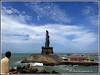 6155 - Thiruvalluvar Statue, Kanyakumari (chandrasekaran a 47 lakhs views Thanks to all) Tags: sea india saint statue sunrise tamilnadu philosopher kanyakumari thiruvalluvar bayofbengal vivekananda tamils vivekanandarock thirukural