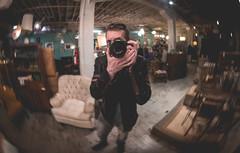 I found a shiny metal lamp (pooshda) Tags: distortion selfportrait reflection metal zeiss mirror shiny antique michigan sony orb bean fisheye 55mm sphere reflective grandrapids alpha crystalball selfie a7rii