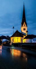 Austrian church (j.r- photography1) Tags: light summer alps building church wet architecture night reflections long outdoor faith samsung exposer amateur