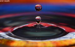 Water droplet macro (aratinargide) Tags: water droplet macro tokina 100mm nikon d7100 closeup colorful abstract sb600