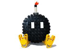 LEGO Bob-omb ( 21 Bricks ) Tags: lego moc nintendo super mario bros brothers video game nes snes wii gameboy bob omb bomb bobom koopa tfol sphere u gamepad mariokart 8