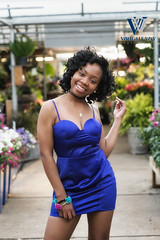 Flower Girl in Blue Dress (Wright Way Photography) Tags: black flower girl beautiful beauty health lowes greehouse sesy wrightwayphotography canon1dxmarkii
