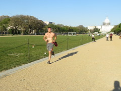 IMG_0756 (FOTOSinDC) Tags: shirtless hairy man muscles back arms arm legs candid chest leg handsome running sweaty sweat guns jogging runner jogger