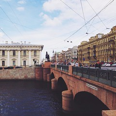 spb (millenks) Tags: street city bridge architecture river russia outdoor petersburg saintpetersburg mobilephoto spb       vsco byiphone