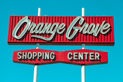 Orange Grove Shopping Center (TooMuchFire) Tags: signs sign vintage typography neon retro type pasadena typeface oldneonsign midcentury oldsigns vintagesigns vintageneonsign vintageneonsigns vintagesignage retrosign vintagetype retrosigns vintagetypography oldneonsigns orangegroveshoppingcenter