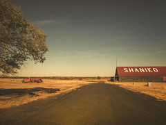 good bones (Jo-H) Tags: summer sky oregon barn warm firetruck oaktree shaniko