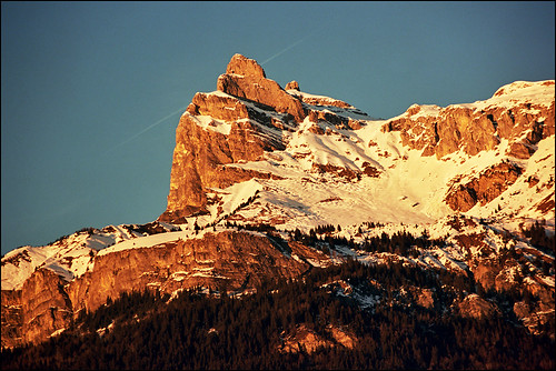 Sunset over Megeve