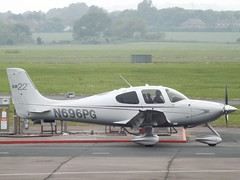 N696PG Cirrus SR22 (Aircaft @ Gloucestershire Airport By James) Tags: james airport gloucestershire lloyds cirrus sr22 egbj n696pg
