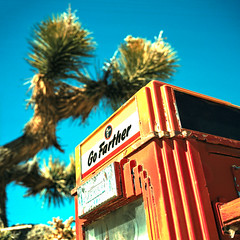 go farther. gold point. nv. 2016. (eyetwist) Tags: old cactus orange 6 tree 120 6x6 mamiya film yellow contrast analog vintage mediumformat square typography town xpro crossprocessed saturated mine cross desert kodak joshua crossprocess nevada ghost joshuatree rusty ishootfilm gas mining pump type ghosttown deathvalley 100 lettering analogue gasoline mamiya6 process leaded ektachrome processed e6 e100vs fuel gaspump mojavedesert ethyl typographic goldpoint emulsion 75mm c41 hitest tokheim kodakektachromee100vs 100vs lenstagger eyetwist 6mf 75mmf35 mamiya6mf ishootkodak epsonv750pro recentlyprocessedfilm eyetwistkevinballuff crossprocessede6toc41 gofarther