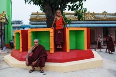 Monk and novice - Lashio, Myanmar (Maciej Dakowicz) Tags: portrait asia burma monk buddhism monastery monks myanmar novice lashio