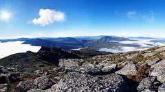 20160531-41-Clear Hill pano (Roger T Wong) Tags: cloud mist mountains southwest fog outdoors nationalpark walk australia hike tasmania np wilderness bushwalk wha 2016 ptgui franklingordonwildriversnationalpark worldheritagearea panopanorama sony1635 clearhill rogertwong sel1635z sonya7ii sonyilce7m2 sonyalpha7ii sonyfe1635mmf4zaosscarlzeissvariotessart